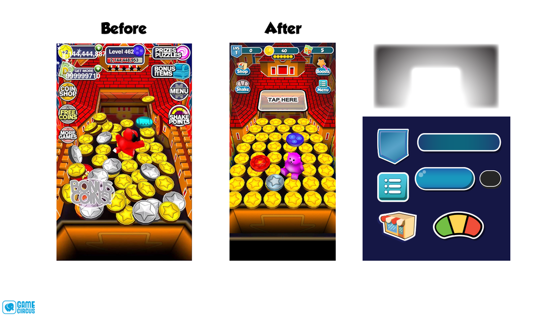 PROJECTS | Coin Dozer Original: UI/UX Re-design